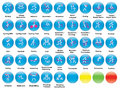 Icons with summer sports set of round Royalty Free Stock Photos