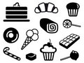 Icons of sweets Stock Images
