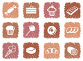 Icons of sweets Stock Photos