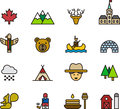 Icons and Symbols of Canada Royalty Free Stock Photo