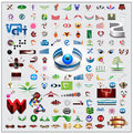 Icons and symbols multi set illustration is available in vector format Royalty Free Stock Photography