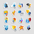 Icons technology computer interface vector illustration Stock Images