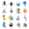 Icons for technology and computer interface vector illustration Stock Image