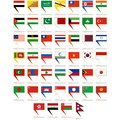 Icons to flags of asia abstract signs depicting different countries the illustration on a white background Royalty Free Stock Images