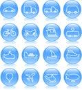 Icons transport 免版税库存图片