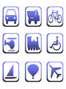 Icons for transportation Stock Image