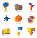 Icons for travel and leisure Royalty Free Stock Photo