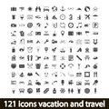 Icons vacation and travel vector illustration Royalty Free Stock Photography