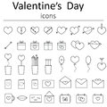 Icons for Valentine's Day Royalty Free Stock Photo