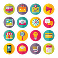 Icons vector set in flat design style creative illustration on white background for presentation booklet website and different Royalty Free Stock Photos