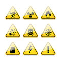 Icons warning signs of danger illustration format eps Royalty Free Stock Photo