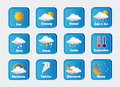 Icons weather over gray background vector illustration Stock Image