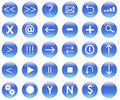 Icons For Web Actions Set Blue Stock Photo