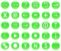 Icons For Web Actions Set Green Royalty Free Stock Photo