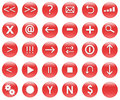 Icons For Web Actions Set Red Royalty Free Stock Image