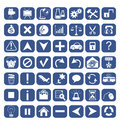 Icons for web design set of computer your website in blue color Royalty Free Stock Photos