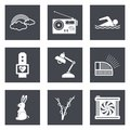 Icons for web design set and mobile applications vector illustration Stock Photo