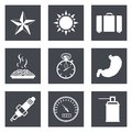 Icons for web design set and mobile applications vector illustration Royalty Free Stock Photo