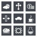 Icons for Web Design set 31 Royalty Free Stock Photo