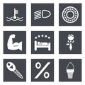 Icons for web design set and mobile applications vector illustration Stock Photography