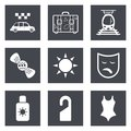 Icons for web design set and mobile applications vector illustration Royalty Free Stock Photography
