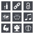 Icons for web design set and mobile applications vector illustration Stock Photos