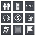 Icons for web design set and mobile applications vector illustration Stock Images