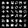 Icons for web and mobile on black background this is file of eps format Stock Photography