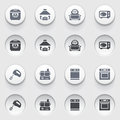 Icons for web on white buttons set vector websites guides booklets Stock Image