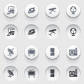 Icons for web on white buttons set vector websites guides booklets Royalty Free Stock Photo