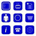 Icons for website and internet (Blue 2) Stock Image