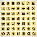 Icons yellow background file eps format Royalty Free Stock Photo