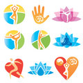 Icons_yoga_fitness Stock Photos