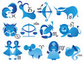 Icons of zodiac sign Stock Photo