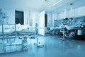 ICU ward with patients Royalty Free Stock Photo