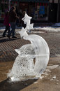Icy art sculpture Stock Image