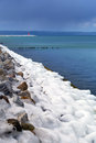 Icy Baltic sea coast at winter Royalty Free Stock Photos