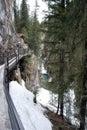 Icy Canyon Walkway Stock Photo