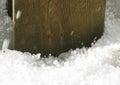 Icy hail balls precipitation with small closeup Stock Photo