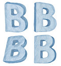Icy letter B.