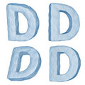 Icy letter D.