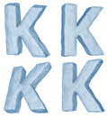 Icy letter K.
