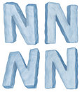 Icy letter N. Royalty Free Stock Photo