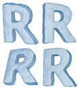 Icy letter R.
