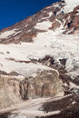 Icy mount rainier snow and ice in national park washington Royalty Free Stock Images