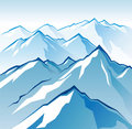 Icy mountains Royalty Free Stock Photography