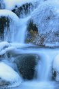 Icy river this is stream in caucasus in winter Stock Photo