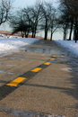 Icy Road Royalty Free Stock Images