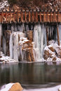 Icy Water Flumes Royalty Free Stock Photo