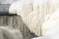 Icy waterfall paterson falls is frozen and beautiful Royalty Free Stock Photography